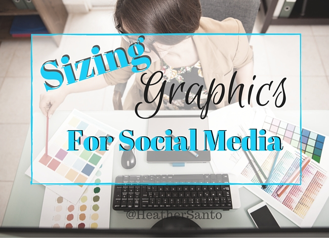 Woman with graphic design equipment for the sizing of social media images
