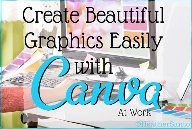 Graphic designer using Canva at work